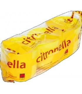 Tris Candele alla Citronella Fiaccoletta in Plastica H. 5cm. Durata 8/10 Ore per Interni