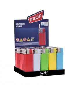 Accendino Elettronico Prof colorato conf. 50 pz. assortito con 5 colori