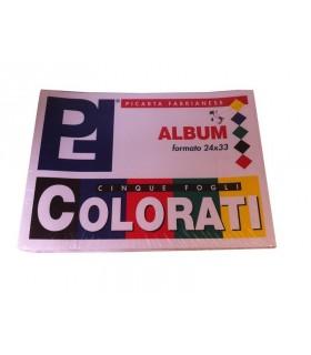 Album colorato Picarta Fabrianese Formato 24x33 Fogli 10 assortiti con 5 colori