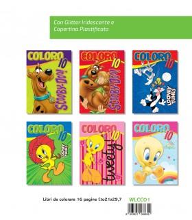 3 Libri da Colorare Marpimar con Glitter da 16 Pagine assortiti come da foto