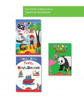 3 Libri da Colorare Marpimar da 16 Pagine assortiti ( Animali - Colori - Lettere - Numeri ) come da foto
