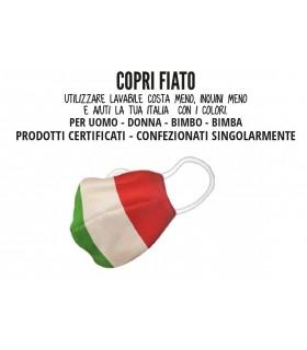 Mascherine Proteggi-Fiato Bimbo/a  10/12 Anni Mod. Tricolore in Cotone 100% Lavabile idrorepellente e Traspirante conf. 10 pz.