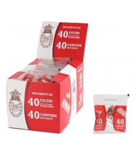Rex Bravo Cartina Corta + Filtri Ultra slim 5.5mm confezione da 40 bustine con 40 cartine + 40 filtri