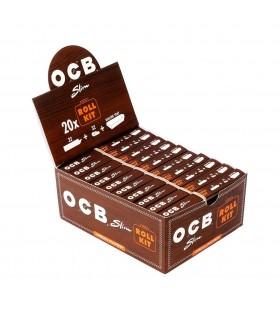 Roll Kit  Cartina Ocb Slim Virgin + Filtri in carta Roll Kit  conf. 20 libretti