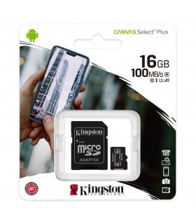 Micro SD Kingston da 16GB + Adattatore SD