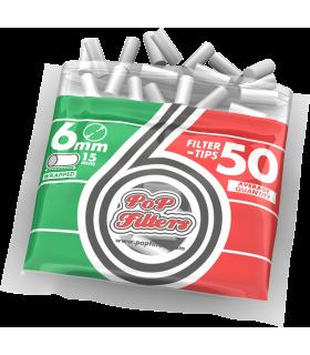 Filtri Pop Filters Slim 6mm in bustina  conf. 40 bustine da 50 filtri
