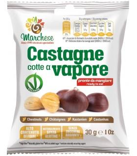 CASTAGNE COTTE A VAPORE MARCHESE SENZA GLUTINE 30g CONF. 20 PZ.