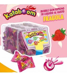 GOMME KATABOOM RIPIENE GUSTO FRAGOLA IN BOX IN PLASTICA DA 200 PZ.