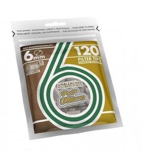 Filtri Pop Filters Slim 6mm Biodegradibile  in bustina  conf. 30 bustine da 120 filtri