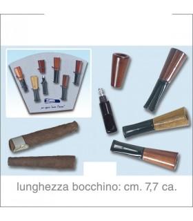Bocchino in Radica Regular per Sigaro Mezzo Toscano in Cartella da 6 pz. assortiti