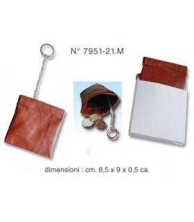 Portamonete con Meccanismo a Molla colore Marrone confezionato in scatola