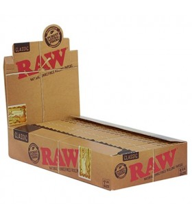 Cartina Corte Raw Natural 1.1/4 conf. 24 libretti da 50 cartine