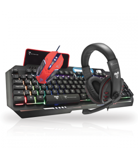 Set Gaming TEchmade con Tastiera - Mouse - Cuffie e pad