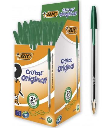 Penna Bic Cristal conf. 50 pz. colore verde