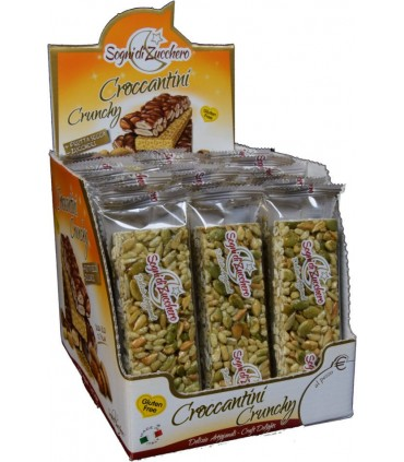 MIX CROCCANTINI 40 G EXPO COMPONIBILE DA 90 PZ. ASSORTITO CON 3 GUSTI ZENZERO MIRTILLO SEMI DI ZUCCA E GIRASOLE