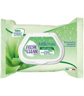 12 Salviette milleusi Fresh&Clean Natural con Aloe Vera