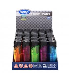 Accendino Atomic Turbo Flame Stardust conf. 50 pz. assortito con 5 colori