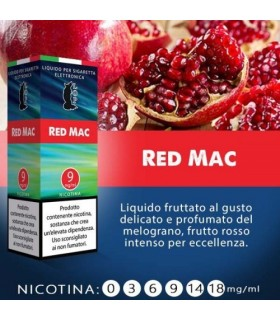 "Lop Liquido Pronto RED MAC 10ml NICOTINA 3 ""ACCISA COMPRESA"""