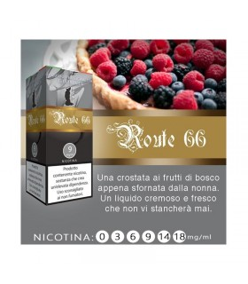 "Lop Liquido Pronto ROUTE 66 10ml NICOTINA 0 ""ACCISA COMPRESA"""