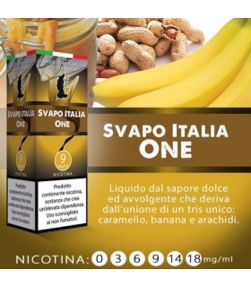"Lop Liquido Pronto SVAPO ITALIA ONE 10ml NICOTINA 3 ""ACCISA COMPRESA"""