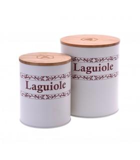 Barattoli in Ceramica Laguiole con Tappo in Bamboo