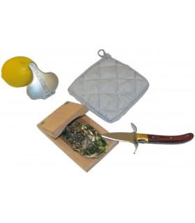 Set per Ostriche Laguiole confezionato in elegante scatola di Legno