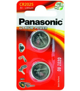 Pila a Bottone Panasonic CR2025 conf 12 pz.