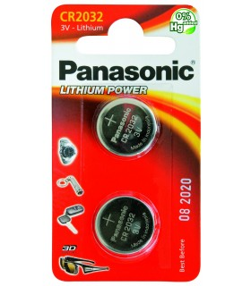 Pila a Bottone Panasonic CR2032 conf. 12 pz.