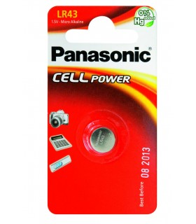 Pila a Bottone Panasonic LR43 conf. 12 pz.