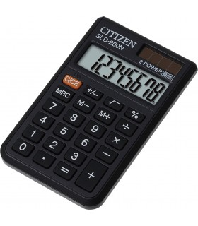 Calcolatrice Citizen Tascabile 8 Cifre con Custodia colore Nera