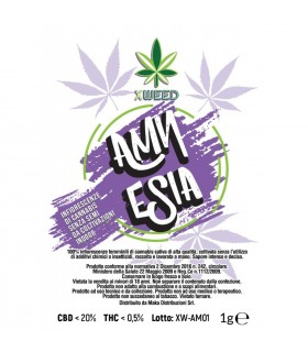 Infiorescenza di Cannabis Light XWEED AMNESIA bustina da 1gr