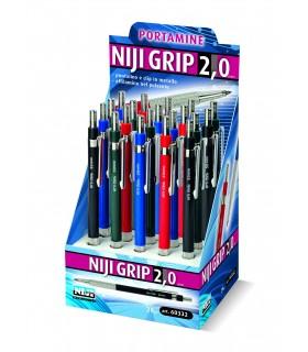 Portamine Niji Grip 2.0 mm Expo da 20 pz. assortite con 4 colori