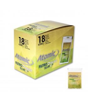 Filtri Atomic Slim Bio Organic in busta conf. 18 buste da 200 filtri