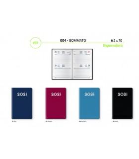 Agenda Bigiornaliera mis.6.5x10 Mod. Gommato Disponibile in 4 colori