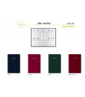 Agenda Bigiornaliera mis.6.5x10 Mod. Madrid Disponibile in 4 colori