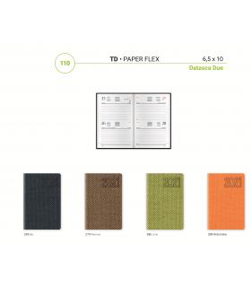 Agenda Giornaliera con Elastico mis.6.5x10 Mod. Flex Disponibile in 4 colori