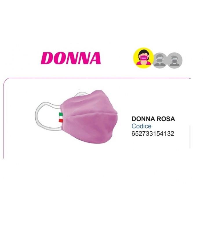 Mascherine Proteggi-Fiato Donna in Cotone 100% Lavabile idrorepellente e Traspirante conf. 10 pz. colore Rosa
