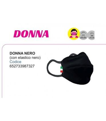 Mascherine Proteggi-Fiato Donna in Cotone 100% Lavabile idrorepellente e Traspirante conf. 10 pz. colore Nero