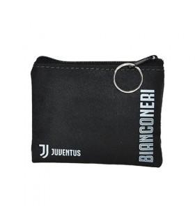 Portamonete in Ecopelle FC Juventus con chiusura a Zip