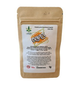 Infiorescenza di Cannabis Light XWEED ORANGE Bustina da 1gr