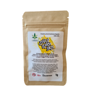 Infiorescenza di Cannabis Light XWEED LEMON HAZE bustina da 1gr