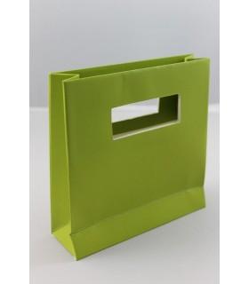 Buste carta rigida  misura cm.14,5x14,5 colore Verde Acido Conf. da 10 pz