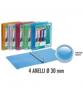 Raccoglitore Favorit Lumina in PPL 4 Anelli 15mm colori Assortiti