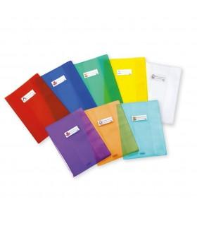 Coprimaxi Favorit in PVC Liscio spessore 140 my  con Porta nome conf. da 50 pz. colore trasparente neutro