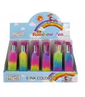 Penna Plush 6 Colori Mazzeo Giochi