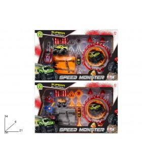 Playset Auto Speed Monster con Accessori MAzzeo Giochi