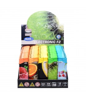 Accendino Atomic Elettronico Fruits conf. 50 pz. assortiti con 5 Fantasie