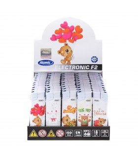 Accendino Atomic Elettronico Teddies conf. 50 pz. assortiti con 5 Fantasie