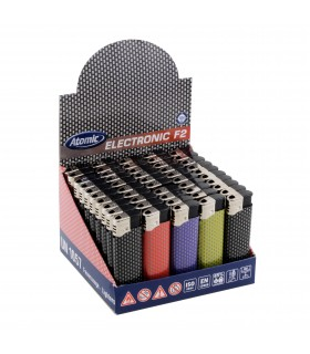 Accendino Atomic Elettronico Grid conf. 50 pz. assortiti con 5 Colori