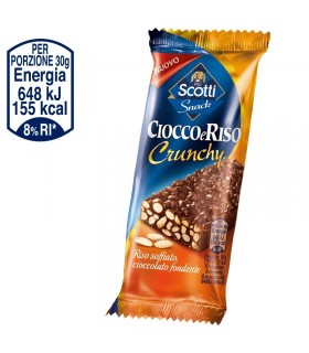 SNACK RISO SCOTTI CIOCCO&RISO CRUNCHY 30g: CONF. 36 PZ.